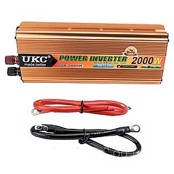 Преобразователь автомобильный напряжения инвертор AC/DC SSK 2000W 24V
