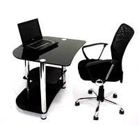 Стеклянный компьютерный стол D35