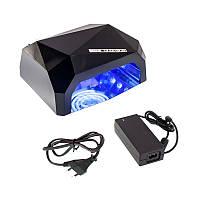 Гибридная  лампа 36W Quick CCFL + LED Nail Lamp   сушилка для ногтей с таймером