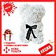 Красивый мишка из латексных 3D роз 40 см с лентой в подарочной коробке   Белый, фото 2