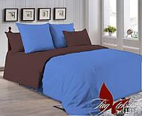 ✅ Двуспальный Евро комплект однотонного постельного белья (Поплин) TAG P-4037(1317)