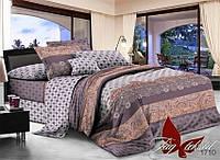 ✅ Полуторный комплект постельного белья (Поплин) TAG 1710