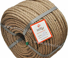 Веревка джутовая JuteRD 8 мм х 50 м – бечевка – канат пеньковый – мотузка джутова – Украина
