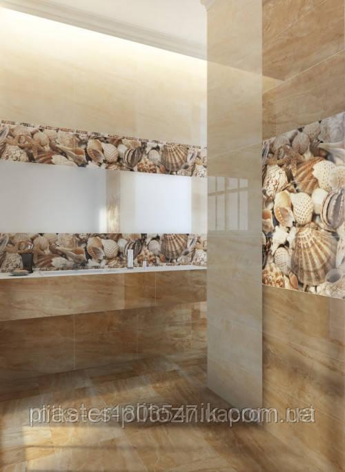 Плитка облицовочная для ванных комнат Sea Breeze Shells бежевый