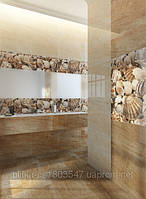 Плитка облицовочная для ванных комнат Sea Breeze Shells бежевый, фото 1