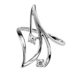 Кольцо Веточка из белого золота с бриллиантами 27248