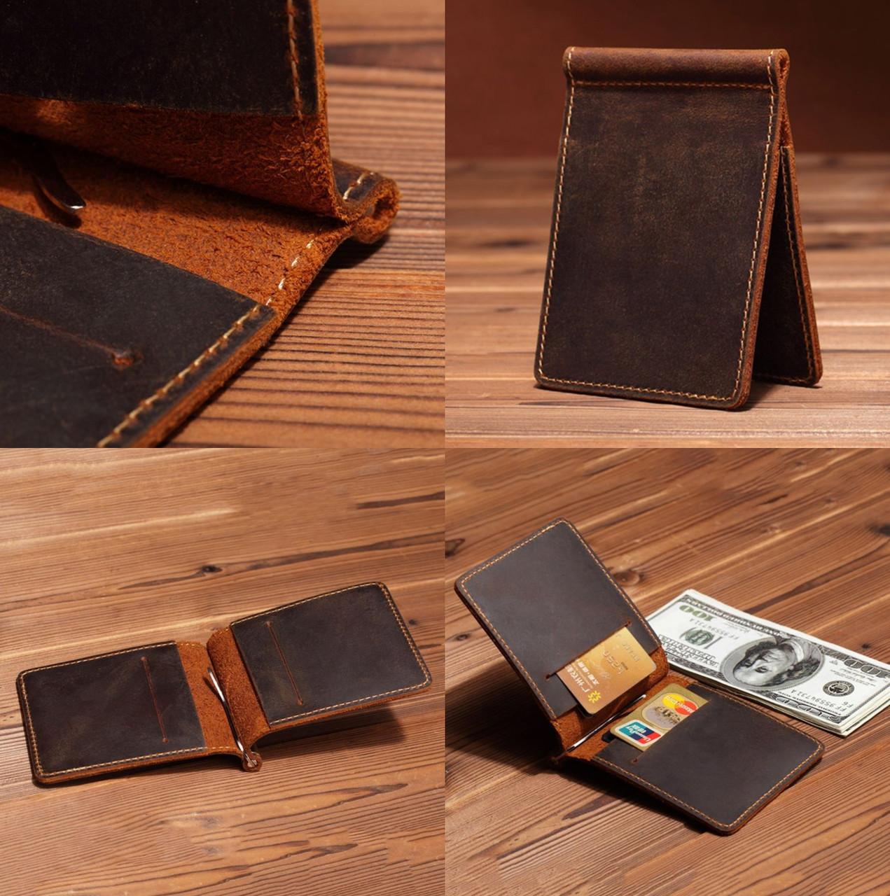 8bb621b4acb6 Мужской НАТУРАЛЬНЫЙ кожаный шкіряний кошелек портмоне зажим для денег
