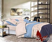 ✅ Двуспальный Евро комплект постельного белья (Ранфорс) TAG R2312