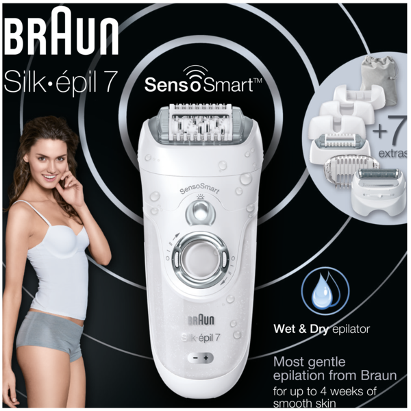 Эпилятор BRAUN Електр епiлятор Silk_epil 7 SES 7/880