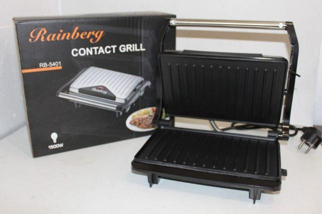 Контактный гриль, сэндвичница, бутербродницаRainberg RB-5401, 1500W  c терморегулятором