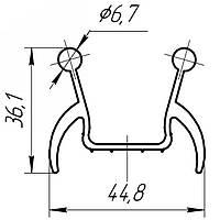 Нижнее уплотнение 80042 Doorhan для ворот гаражных секционных