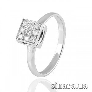 Кольцо из белого золота с бриллиантами 19353