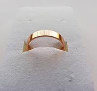 """Кольцо обручальное ширина 4 мм ХР Позолота 18К """"Американка"""" размер 15,5;16;18,5;19,5;20,5; 22."""