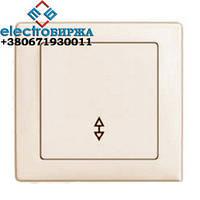 Выключатель DELUX WEGA 9025 1-кл. проходной белый