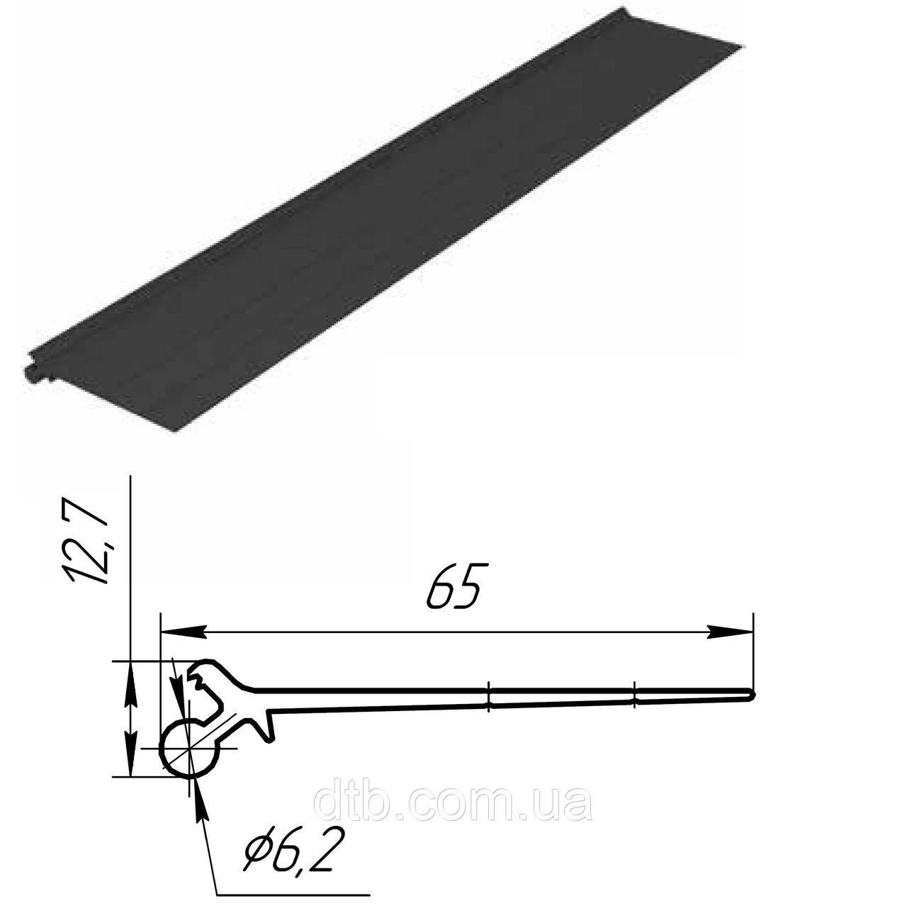 Уплотнение верхнее Doorhan 80028 для ворот гаражных секционных