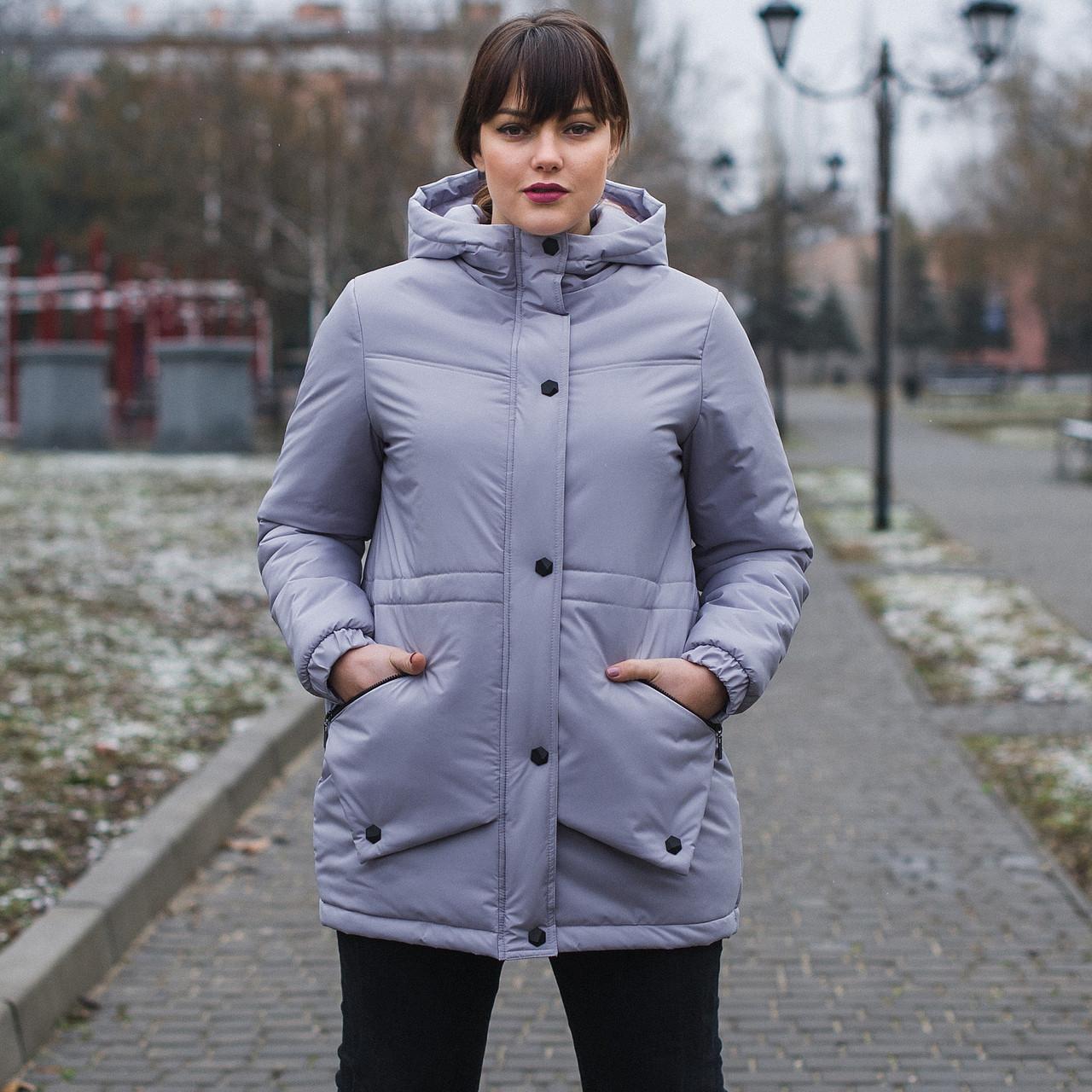54040b1fece Женская весенняя куртка больших размеров 54-66 - Интернет-магазин