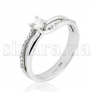 Кольцо из белого золота с бриллиантами 21761