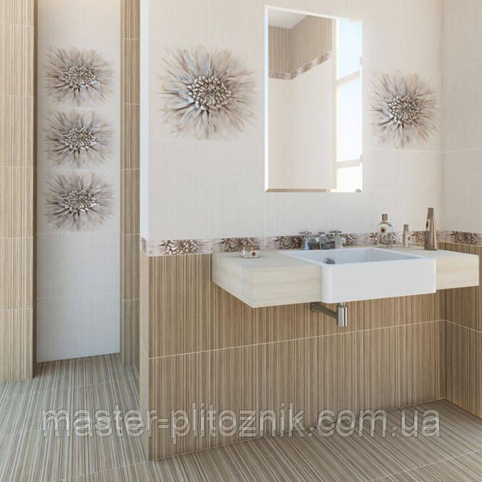 Плитка облицовочная  для ванных комнат  Зебрано