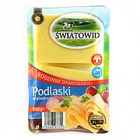 Сыр в пластинках  Podlaski  Swiatowid  без консервантов 300г  Польша
