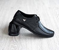 Мужские кожаные туфли на шнурке, фото 1