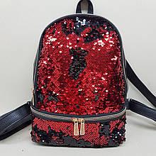 Женский рюкзак с пайетками перевёртышами.