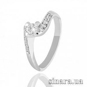 Кольцо из белого золота с бриллиантами 24396