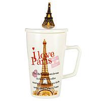 """Чашка керамическая """"I love Paris"""" (300 мл.), фото 1"""
