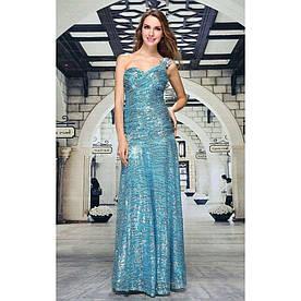 Женское платье от Festamo - синий - Мкл-F1970-синий