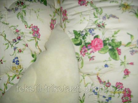 """Одеяло """"Славянаский пух"""" Овчина Евро размер 200х220 см., ткант хлопок. , фото 2"""