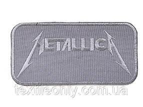 Нашивка Metallicа колір сірий 120x60 мм
