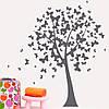 Интерьерная виниловая наклейка Дерево бабочек (ПВХ наклейки стикеры декор пленка самоклеющаяся) глянцевая 830х1200 мм