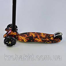 """Самокат MAXI """"Best Scooter"""" А 24661 /779-1310 колеса PU- диаметр 12 см, трубка руля алюминиевая от 63 до 86 см, фото 2"""