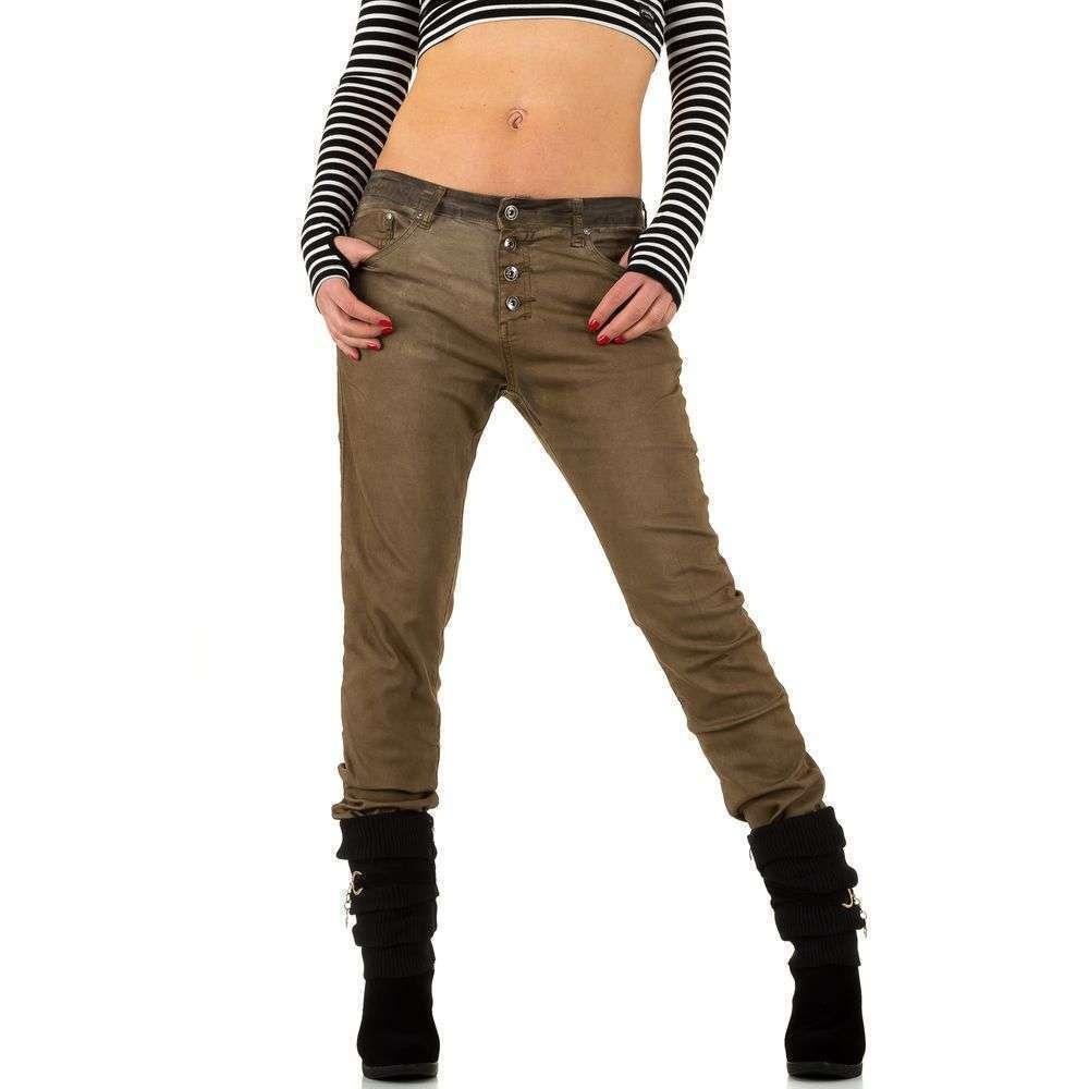Женские джинсы бойфренды с затемнением Place Du Jour (Франция) Коричневый