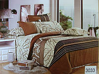 Сатиновое постельное белье евро ELWAY 3033