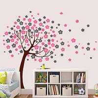 Виниловая наклейка на обои Дерево фантазий (ПВХ наклейки стикеры декор самоклеющаяся пленка) глянцевая, фото 1