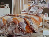 Сатиновое постельное белье евро ELWAY 3776