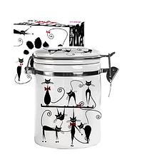 Ємність для сипучих продуктів 1,2 л 'Чорна кішка' (d-10см, h-16)