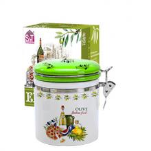 Емкость для сыпучих продуктов 1,2 л. 'Итальянские блюда' (d-10см, h-16)
