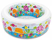 Детский надувной бассейн, манеж и батут Аквариум INTEX 58480