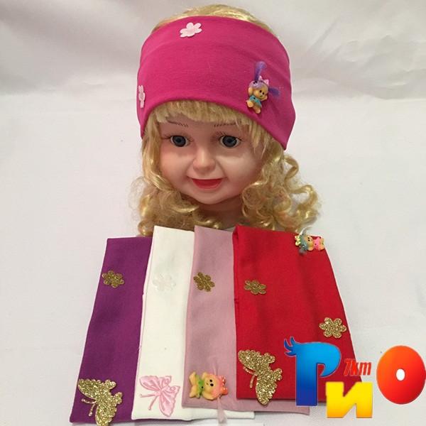 Детская повязка, трикотаж  для девочек р-р 48-50 см (5 ед в уп) NA_1835