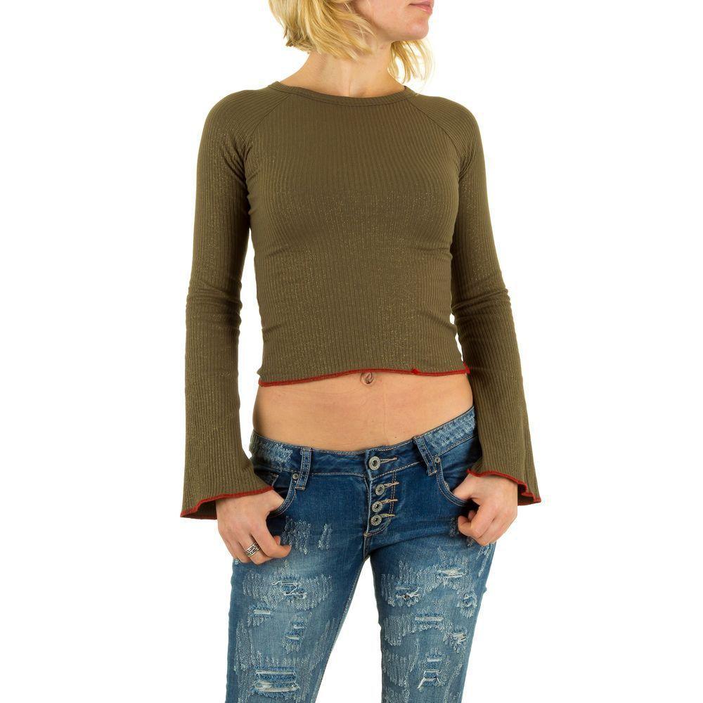 Женский джемпер с расклешенными рукавами (Европа), Хаки