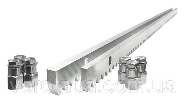 Зубчатая рейка 8мм оцинкованная для откатных ворот