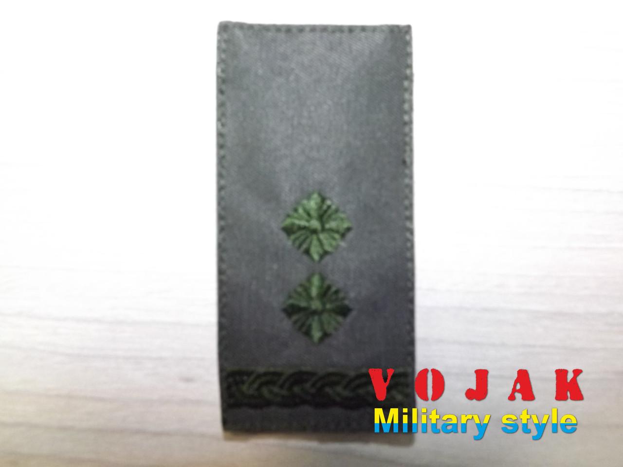 Погон ЗСУ Підполковник (тк.олива) 10*5см (4007-L)