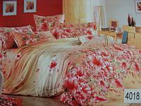 Сатиновое постельное белье евро ELWAY 4018