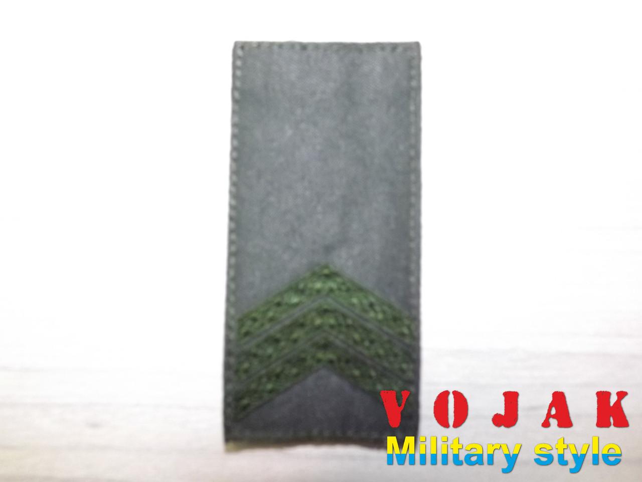 Погон ЗСУ Сержант (мк.олива) 10*5см (1853-L))