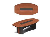 Темный овальный конференционный стол Эйдос 2700х1350х743 Е1.08.27