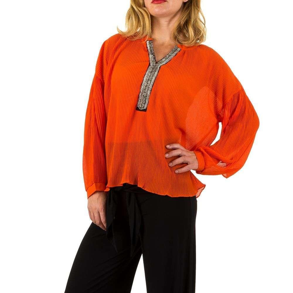 Женская блузка - оранжевый - KL-L463-оранжевый