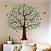 Интерьерная наклейка на обои Двухцветное дерево семьи (виниловая пленка самоклеящаяся) глянцевая 1100х1200 мм