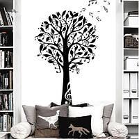 Интерьерная наклейка на обои Дерево музыки (виниловая самоклеящаяся пленка)