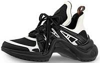 Женские кроссовки Louis Vuitton Archlight Black White (луи витон, черные/белые)